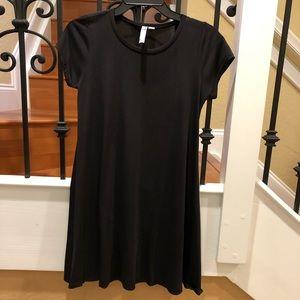 ALYA BLACK T SHIRT DRESS
